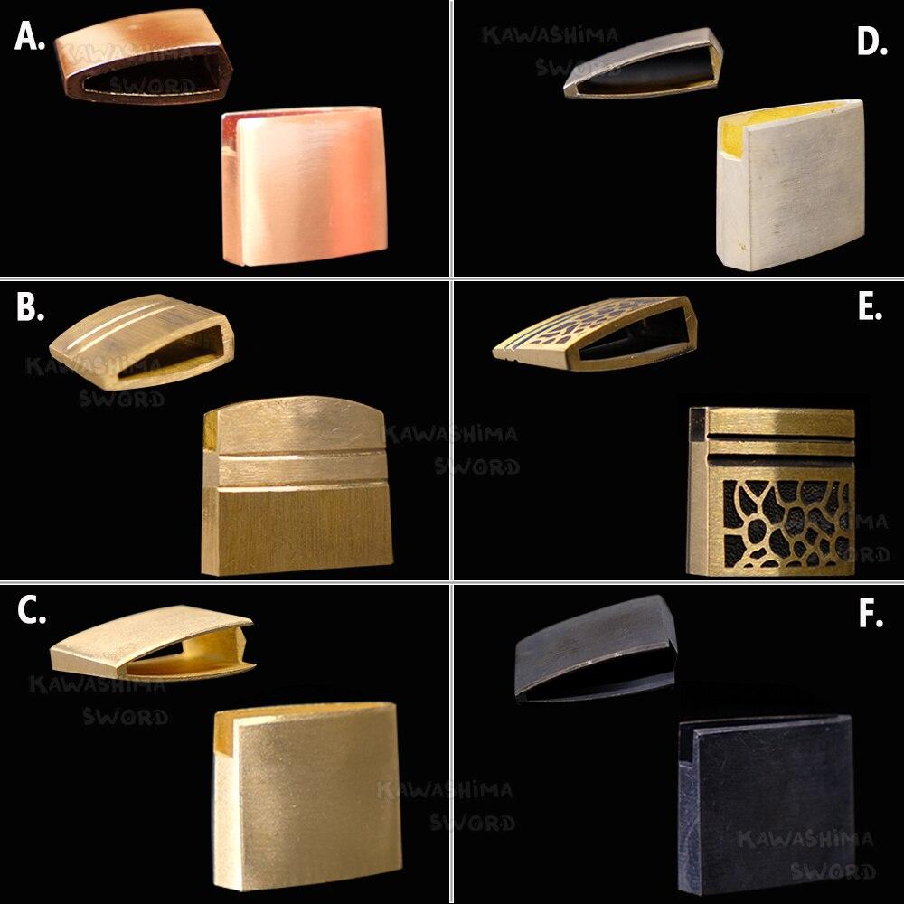 Habaki-Japanese Katana Habaki Brass Material For Samurai Sword Katana / Wakizashi/ Tanto-3.2cm/2.7cm