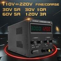 4 Digits DC Switching Lab Power Supply Adjustable 60V 5A 30V 10A Voltage Regulator Stabilizer Bench Source power regulator 220v