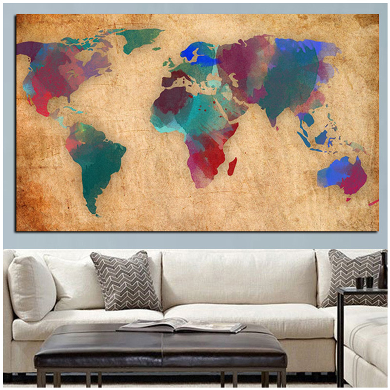 <font><b>120x60</b></font> full drill square round diamond painting Retro Globe Maps Diy puzzle mosaic Diamond Embroidery wedding decorationZP-2760 image