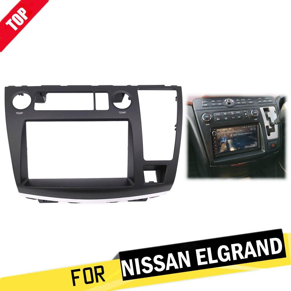LONGSHI Car Radio Facia Dash Kit Panel Fascia Plate For Nissan Elgrand ( E51 ) 2002 2010 DVD CD Panel Trim Plate Frame Console|Fascias| |  - title=
