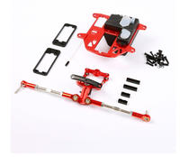 CNC Metal Steering System with Plastic Battery Case Kit for 1/5 HPI Rovan Km BAJA 5B 5T 5SC Rc Car Parts