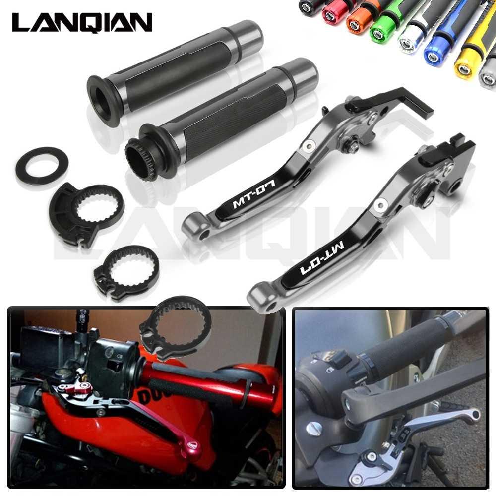 Dla Yamaha MT-07 motocykl CNC dźwignia hamulca sprzęgła i 7/8 22MM kierownica uchwyty MT07 2014 2015 2016 2017 2018 2019 akcesoria
