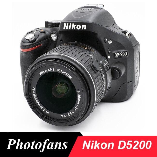 Камера Nikon D5200 DSLR с комплектом объективов 18-55 мм