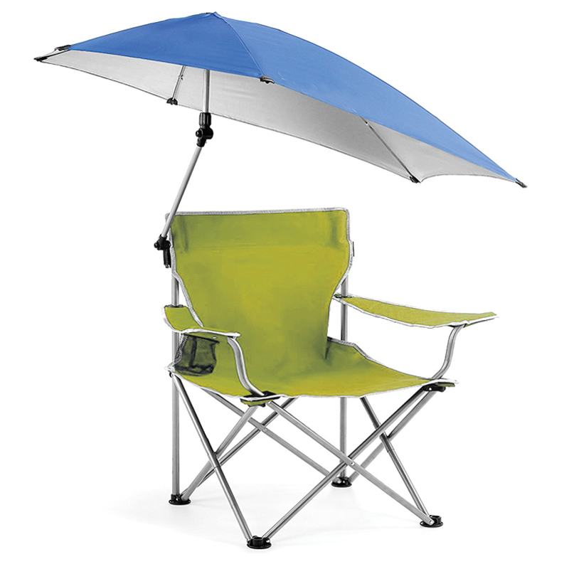 Outdoor Quik Shade Adjustable Canopy Folding Camp Chair Portable Fishing  Camping Reclining/Lounging Chair Heavy Duty 100KG