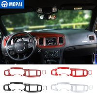 MOPAI Interior Accessories Car Central Control Dashboard Instrument Panel Decoration Stickers for Dodge Charger 2015+