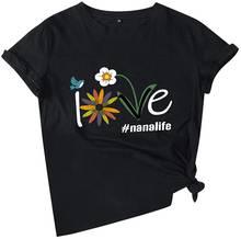 Женская футболка с цветочным принтом летние повседневные топы