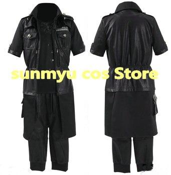 ¡Personalizar, envío gratis! FF15 FINAL FANTASY 15 Noctis Lucis Caelum uniforme Cosplay traje, tamaño personalizado Halloween al por mayor