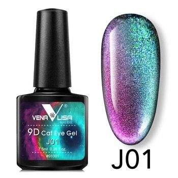 New Nail Art Design Manicure Venalisa Soak Off Enamel 9d cat eyes magnetic Gel Polish UV Gel Nail Polish Lacquer Varnish 1