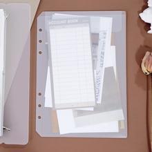 Coloffice A5 A6, 6 отверстий, простая наклейка, сумка для хранения с отрывными листами, разные наклейки, s, для хранения книг, наклейка, лента, руководство, канцелярские принадлежности