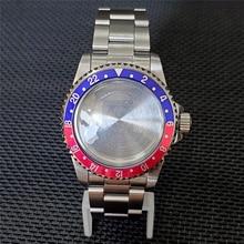 Boîtier de montre étanche en acier inoxydable, 39.5mm, pour mouvement de montre NH35 NH36