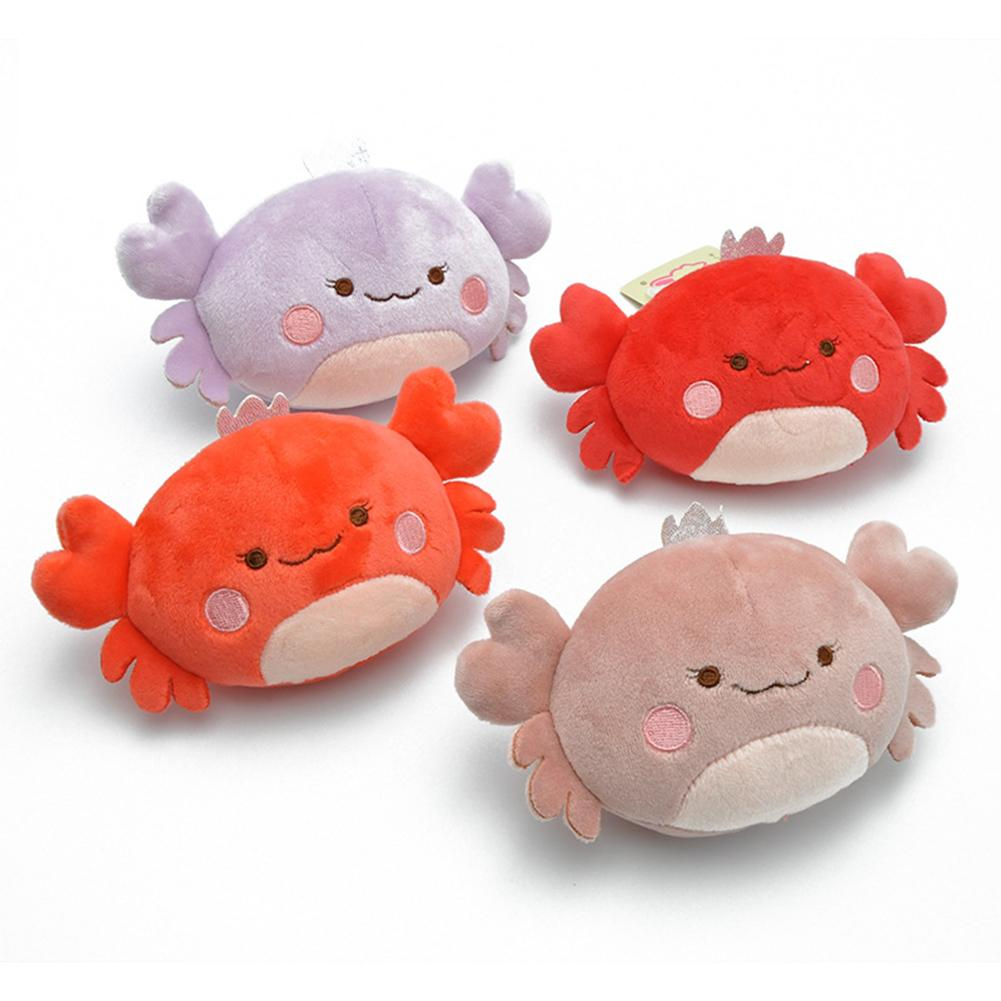 Cute Cartoon Crab Animal <font><b>Plush</b></font> <font><b>Toy</b></font> Keychain Backpack Bag Keychain Doll Pendant <font><b>Key</b></font> <font><b>Chain</b></font> Holder Bag Decoration Cute Gift image