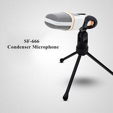 Bundwin SF-666 microfone de estúdio de som, microfone portátil para computador, chat, pc, laptop, skype, msn, presentes, alta qualidade