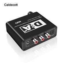 Caldecott الرقمية إلى التناظرية محول الصوت محول DAC البصرية Toslink محوري ثنائية الاتجاه التبديل RCA 3.5 مللي متر جاك