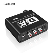 Caldecott digital para conversor de adaptador de áudio analógico dac óptico toslink interruptor bidirecional coaxial rca 3.5mm jack