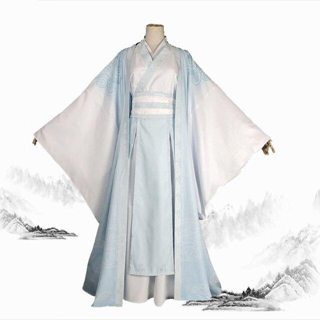 Фото косплей костюм koumoto's weiyoung аниме мастер демона голубой цена