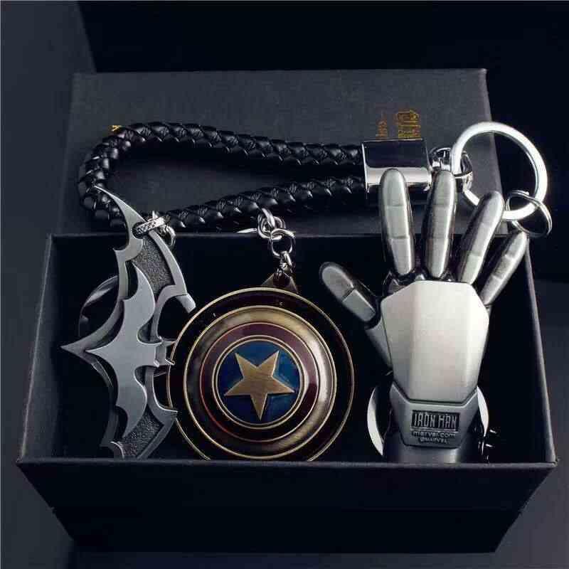 Vingadores aliança Homem De Ferro Capitão América Super hero marvel Keychain Seta Escudo Superman Batman homem-Aranha Brinquedos de Presente