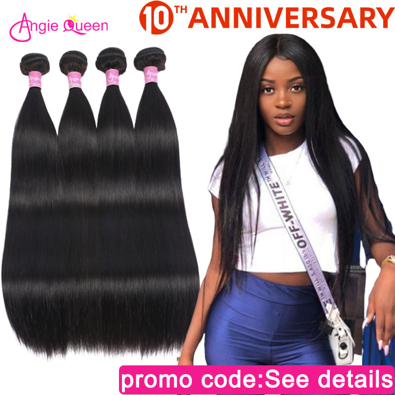 Straight Hair Bundles Indian Hair Bundles Weaves 100% Human Hair Bundles Weft Remy Hair Bundles Weaves 4 Bundles Hair 22 24 26