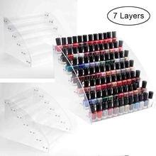 Display-Holder Nail-Organizer Storage-Box Cosmetic Clear Acrylic Plastic 1 7-Tier
