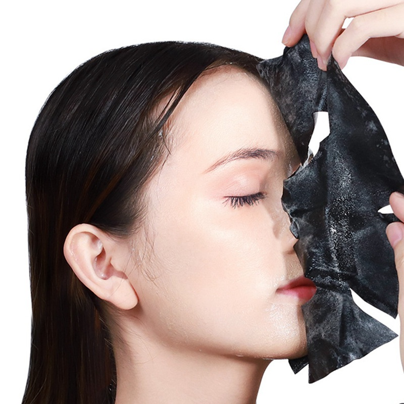 Image result for Oxygen Bubble Sheet Mask Korean Cosmetic Moisturizing Bamboo Charcoal Black Face Mask Facial Whitening Skin Care