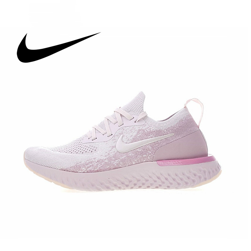 Original NIKE EPIC REACT FLYKNIT Women's Running Shoes Fashion Light Cozy Sneakers Shock Absorption Anti-slip Durable AQ0070-600