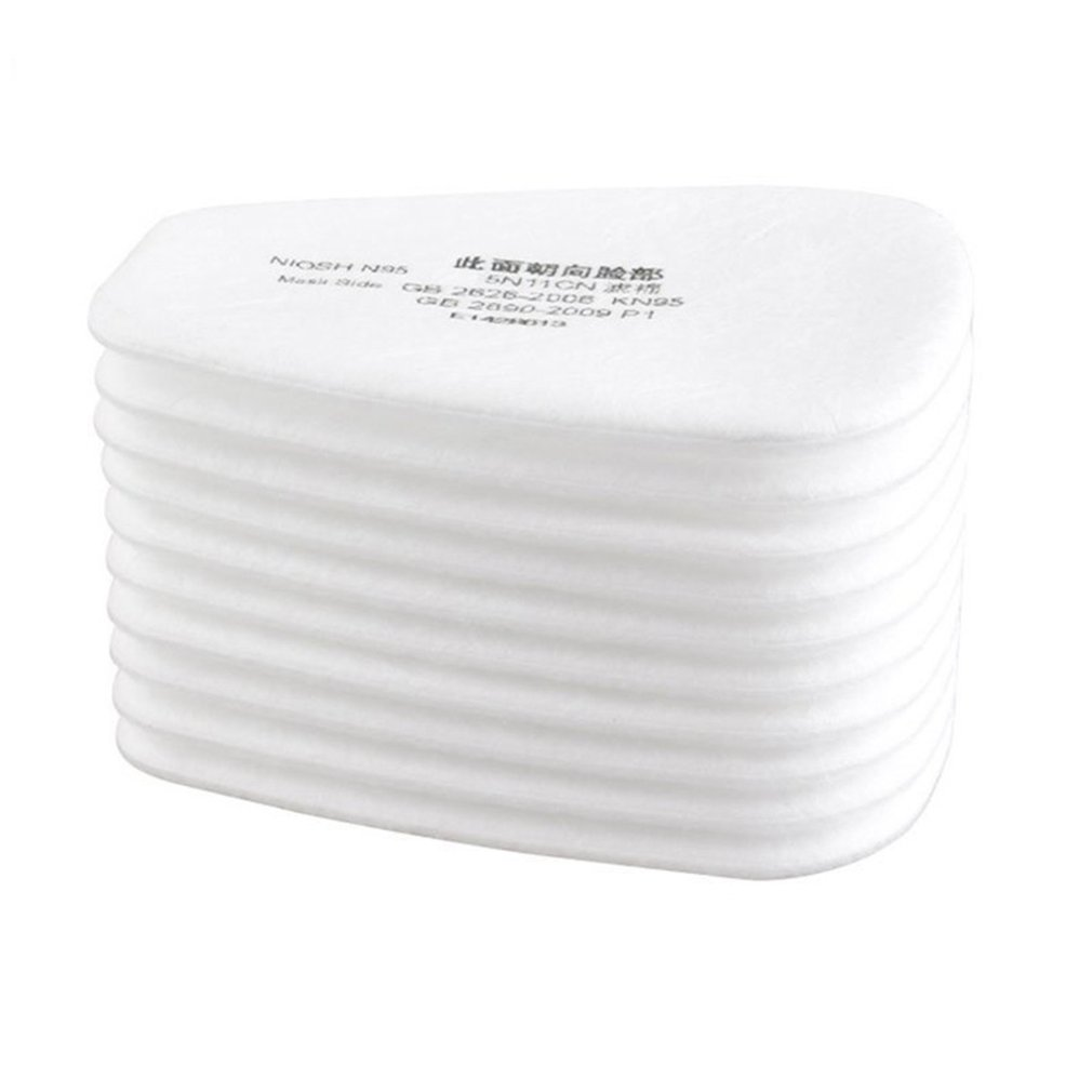 10 pieces / set of 5N11 filter cotton filter 501 replaceable filter for 6200/7502/6800 / dust mask chemical protection anti fog|All-Purpose Covers| |  - title=