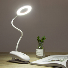 LED Table Lamp Touch On/off Switch 3 Modes Clip Desk Lamp USB Led Table Lamp 7000K Eye Protection Desk Light Dimmer Rechargeable arilux al tl02 flexible 6w led table lamp usb rechargeable touch dimmable reading led desk lamp clip on clamp light