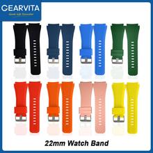 Pasek do zegarka 22mm pasek silikonowy inteligentny pasek do zegarka Huwei GT zegarek Microwear L15 L13 DT95 L16 inteligentny zegarek mężczyźni pasek opaski tanie tanio CN (pochodzenie) Pasek zegarka english Dla dorosłych Wszystko kompatybilny