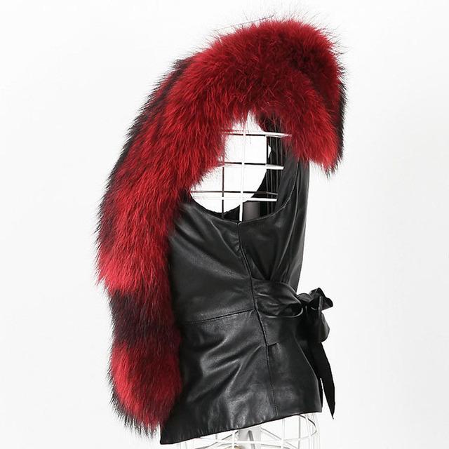 Autumn Winter Faux Fur Coat Women 2019 Casual Plus Size Sleeveless Faux Fox Fur Vest PU Leather Coat Vintage Black Jackets Coats