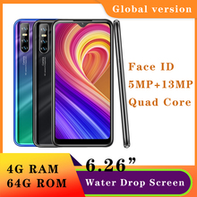 Smartphones Note 9s Water Drop Screen 2SIM 4G RAM 64G ROM Quad Core Cellphone Mobile Phone Android 13MP Face Unlocked Celulares cheap BYLYND Detachable 64GB Face Recognition Up To 48 Hours 3200 Adaptive Fast Charge Smart Phones Bluetooth 5 0 Capacitive Screen