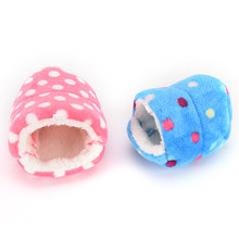 Mini Animal Pet Hamster Hammock Cage Winter Warm House Plush Soft Hanging Bed For Hamster Squirrel Little Mouse Living Nest(China)