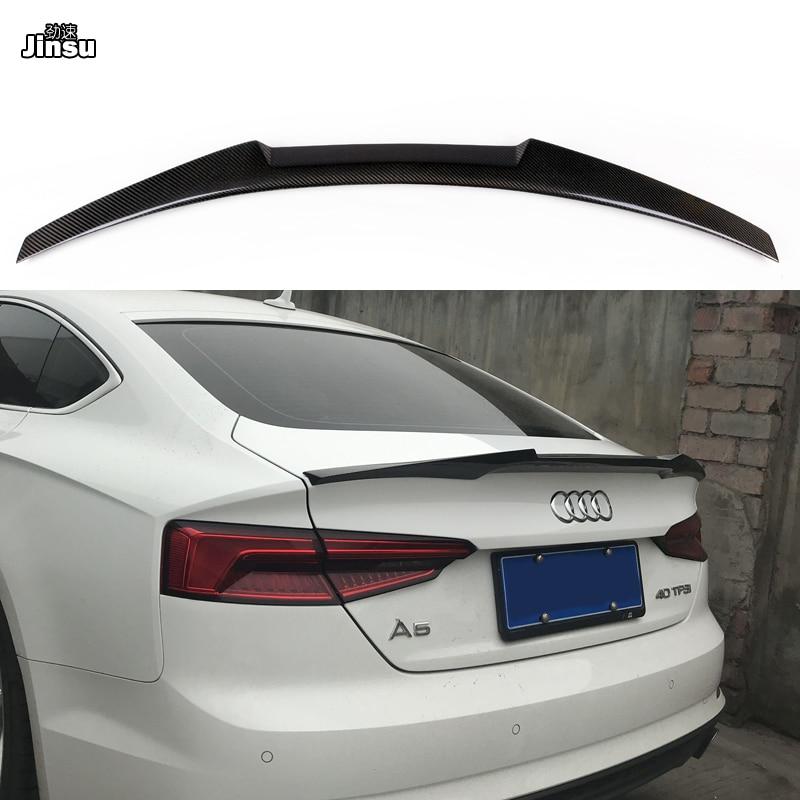 Carbon Fiber Rear Wing Trunk M4 Style Spoiler Lip for 2017 Audi A4 B9 Sedan Auto