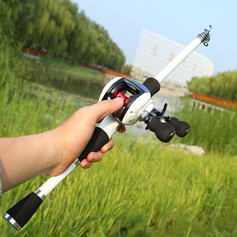 Fishing-Rod Telescopic Lure Low-Profile-Reel Lake with Sea FI-19ING Carbon-Fiber title=