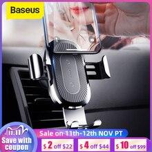 Baseus qi carregador de carro sem fio para o telefone inteligente carro sem fio carregador 10w carregamento rápido respiradouro ar do carro montar telefone titular