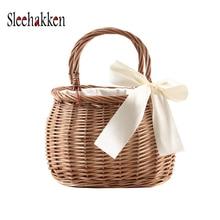 Straw bag handbags new 2019 holiday beach casual woven  shoulder diagonal Rattan luxury women bags designer