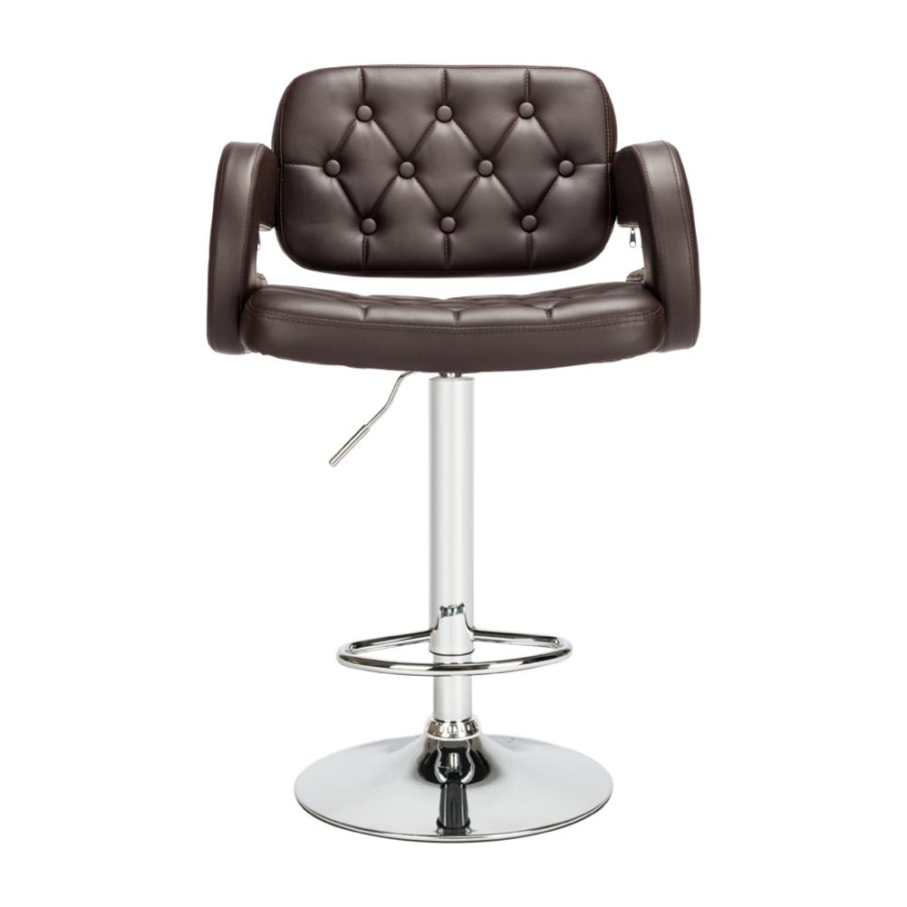 Hight Quality 2pcs Adjustable High Type With Disk Armrest Square Backrest Button Design Bar Stools Coffee Dropship