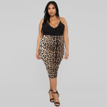 Fashion Women Skirt Plus Size Leopard Sexy Club Solid Pencil Large Skinny Party High Waisted Hembra Falda
