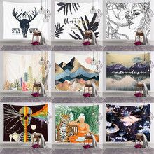 Summer New Home Wall Decoration Polyester Tapestry Wall Hanging Plant Flamingo Beach Towel Blanket Background Cloth Cushion janeyu new cosmos star velvet multifunctional polyester tapestry hanging beach towel