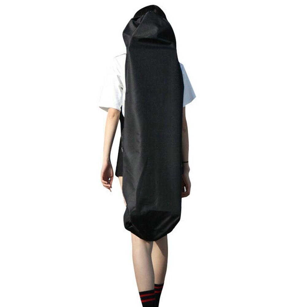 Practical Storage Skateboard Bag Oxford Cloth Waterproof Accessories Black Outdoor Thickened Longboard Backpack Single Shoulder