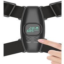 Ajustável anglel postura corrector lembrete inteligente voltar cinto de apoio inteligente sensor vibração volta straightener unisex