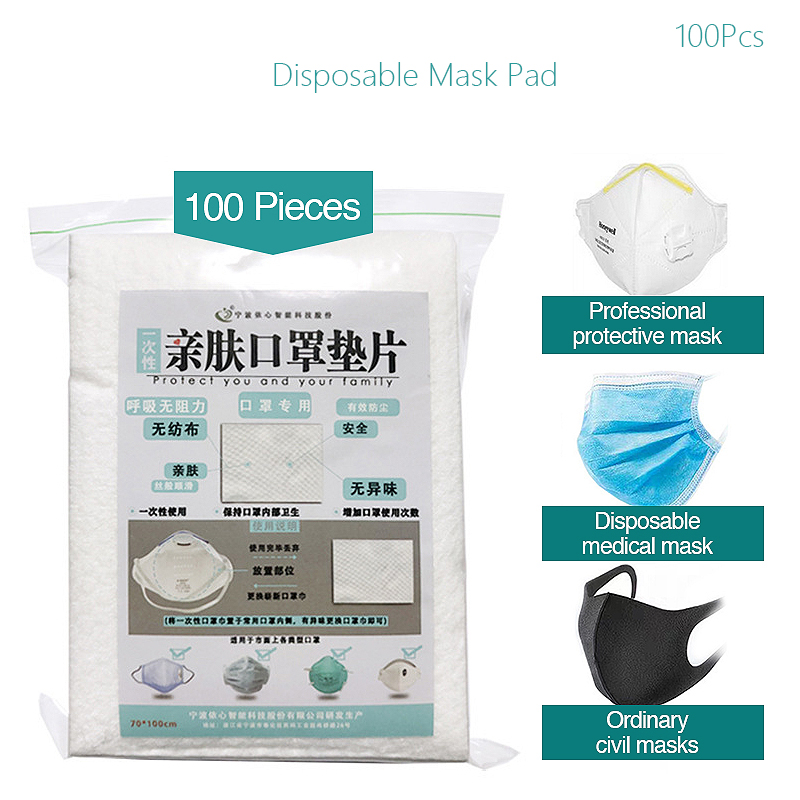 100pcs Mask Respirator Filter Pad Disposable Kn95 Filter Mask Antivirus Prevention For KF94 N95 KN95 Face Masks Civil Mask Pad