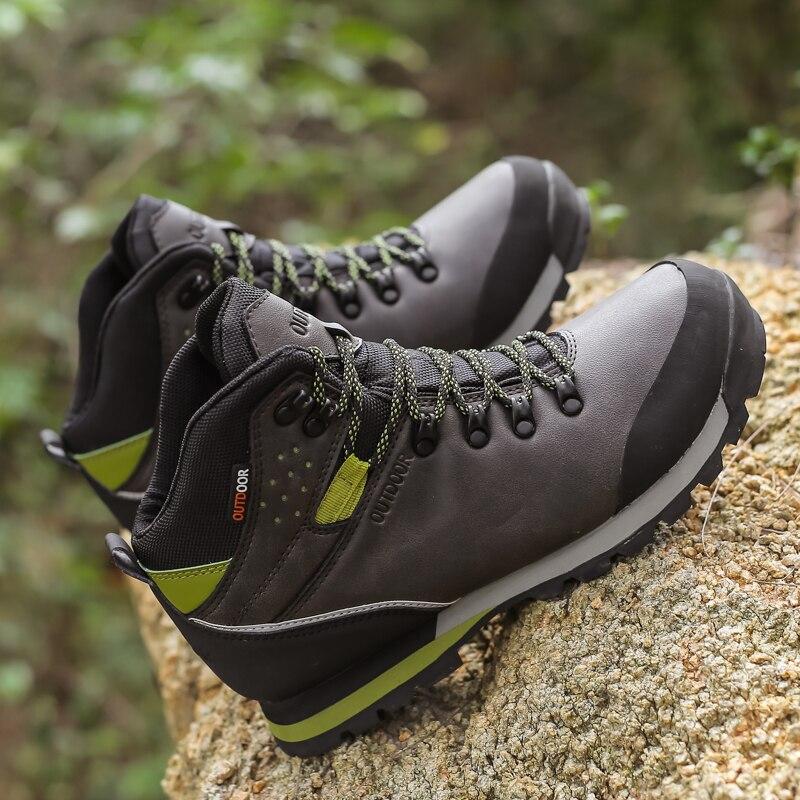 2020 Spring Waterproof Hiking Shoes Men Non-slip Mountain Climbing Shoes Outdoor Hiking Boots Men Hunting Trekking Sneakers Men
