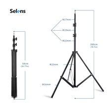 2 м светильник лампа Стенд штатив с 1/4 винтовой головкой для фотостудии софтбокс видео вспышка зонт-отражатель светильник ing