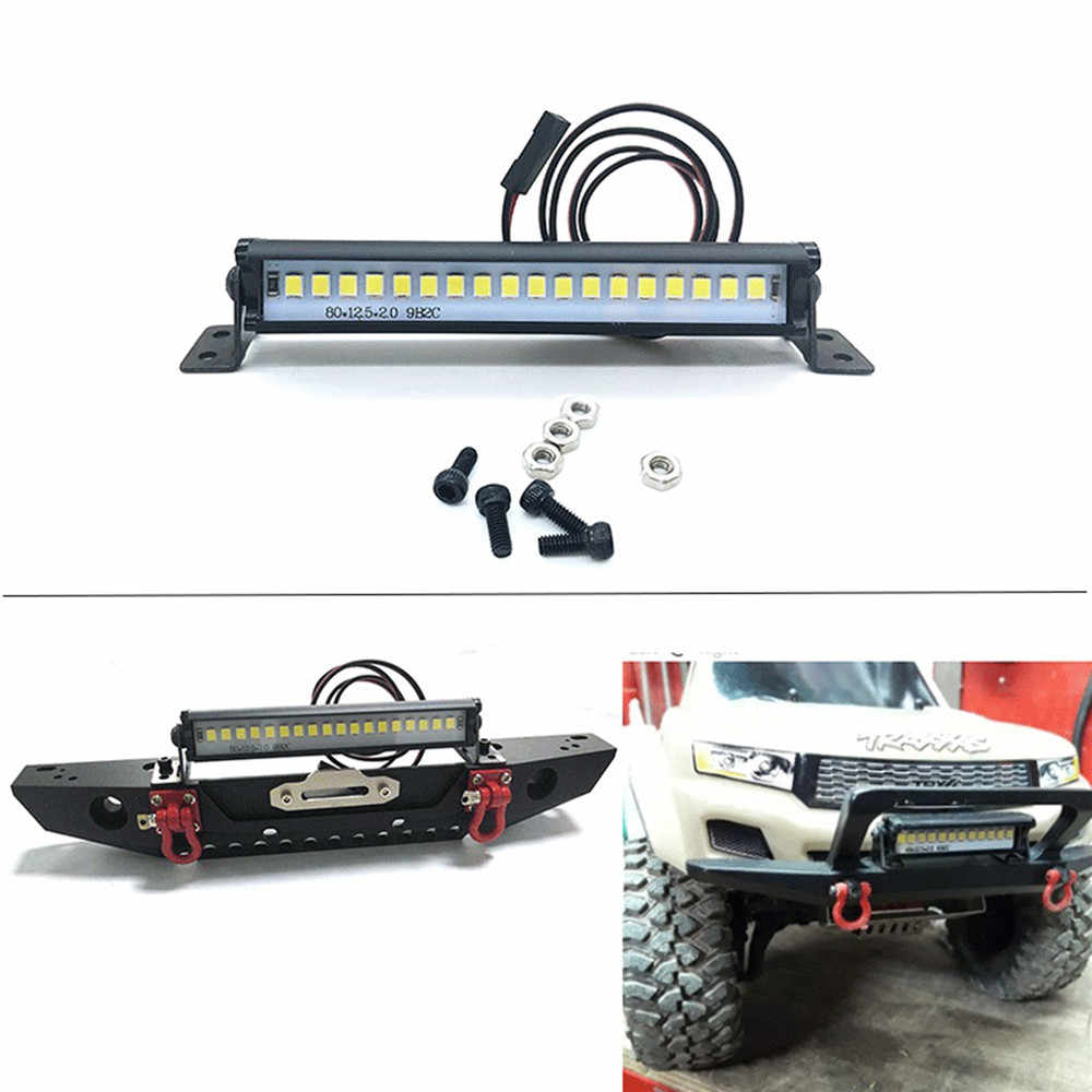 Super Bright 12LED Light Bar Roof Lamp Accessories for TRX4 SC0 KM2 RC Crawler