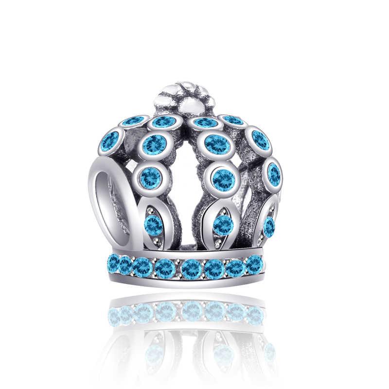 Gorący sprzedawanie kryształ korona księżyc Dragonfly list kwiat serce koraliki Fit Pandora Charms bransoletki dla kobiety DIY biżuteria