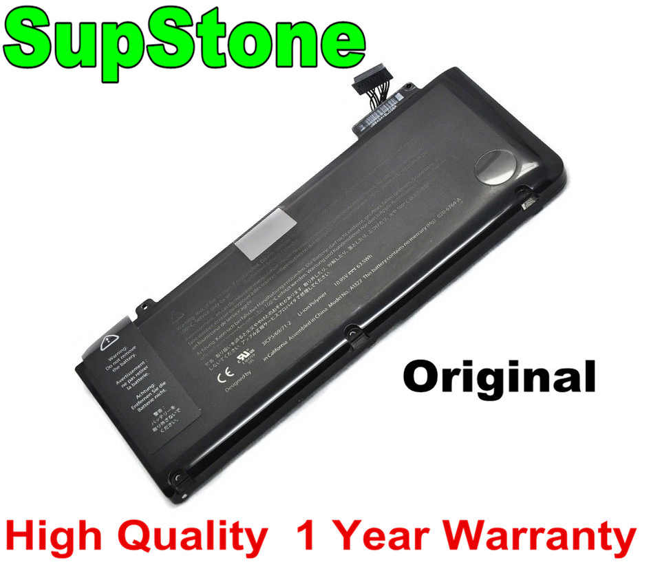 "SupStone D'origine A1322 batterie d'ordinateur portable pour Apple MacBook Pro 13 ""A1278 (2009-2012 ans) MB990 MB991 MC700 MC374 MD313 MD101"