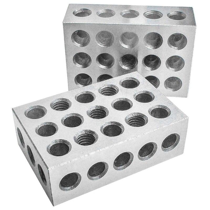 Sıcak sertleştirilmiş çelik Bloklar 23 Delik Paralel Sıkma Blok Torna Araçları Hassas 0.0002Mm için Makine Aracı title=