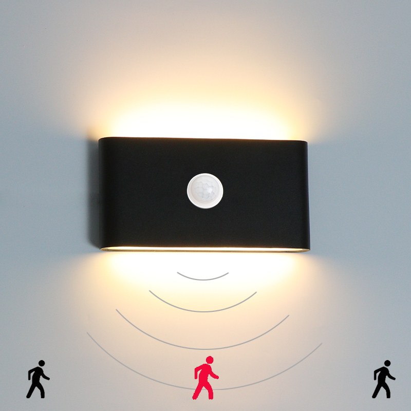 Garden Wall Lamp Outdoor Waterproof IP65 With Human Body Sensing Motion And Light Sensor Porch Corridor Decoration Lighting Lamp
