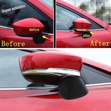Lapetus Side Door Rearview Mirror Strip Streamer Cover Trim For Mazda 3 AXELA Sedan Hatchback 2017 2018 ABS Accessories Exterior