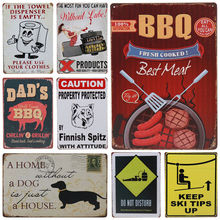Get more info on the 30X20cm DAD'S BBQ Best Meat Wall Decor Plaque Metal Vintage For Bar Decoration Pub Home Poster Plate Signs Tin Sign Retro H78