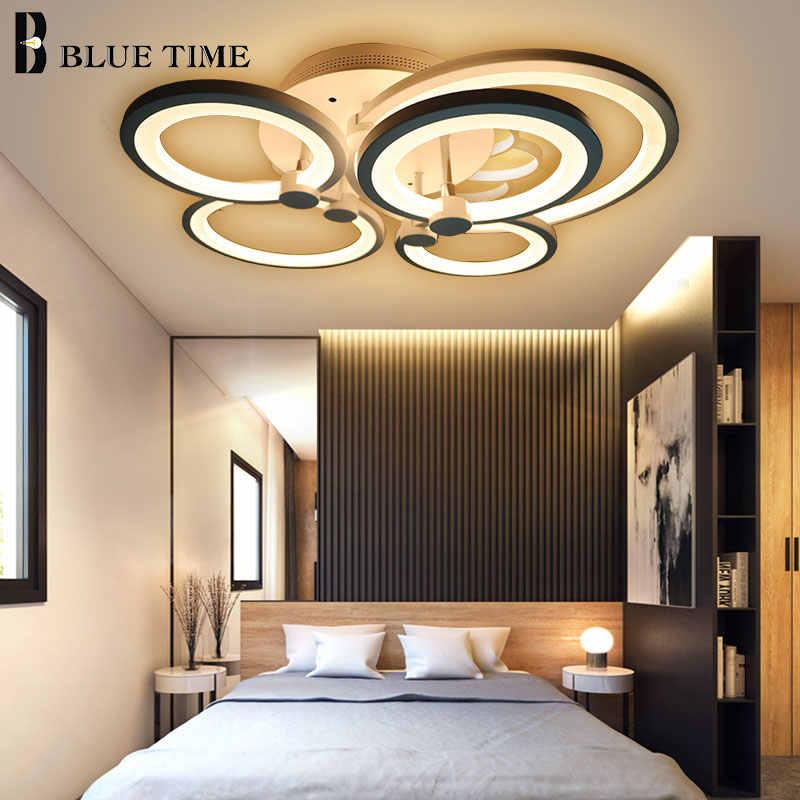 Luminarias Led modernas para salón, dormitorio, comedor, cocina, 10 anillos, lámpara de iluminación de techo, accesorios blancos